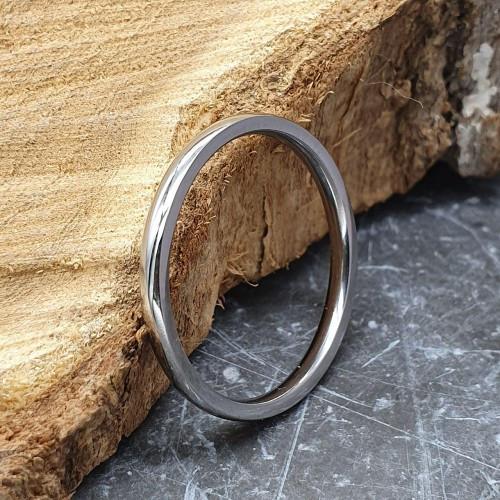Кольцо обручальное ювелирная сталь 2 мм округлое под гравировку 176281