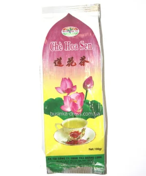 В'єтнамський зелений чай з лотосом 200 г Che Hoa Sen (Hoang Long Tea) 200g, фото 2