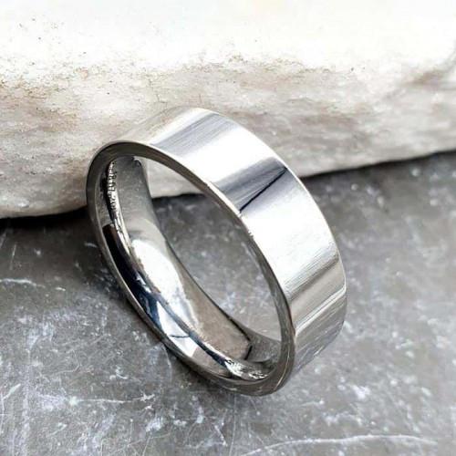 Кольцо обручальное ювелирная сталь американка 6 мм под гравировку 176282