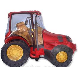 Фольгована фігура Трактор червоний 78 см × 94 см