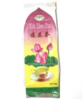Вьетнамский зеленый чай с лотосом 100 г Che Hoa Sen (Hoang Long Tea) 100g