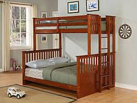 Двухъярусная кровать Кузя (сосна)