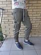 Джоггеры, джинси з поясом на резинці унісекс, накладні кишені карго, є великі розміри NN, фото 5