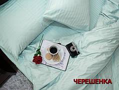 Двуспальный набор постельного белья 180*220 из Страйп Сатина №544610 KRISPOL™