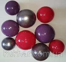 """Набір """"Кульки святкові (9шт) фіолетові/малинові/срібні"""""""