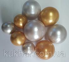 """Набір """"Кульки святкові (9шт) срібні/золоті"""""""