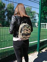 Рюкзак женский яркий городской из текстиля с пайетками цвет золотой 1224784481, фото 3