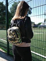 Рюкзак женский яркий городской из текстиля с пайетками цвет золотой 1224784481, фото 2