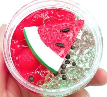 Double watermelon/ Двойной арбуз слайм