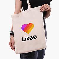 Эко сумка шоппер Лайк (Likee) (9227-1041)  экосумка шопер 41*35 см, фото 1