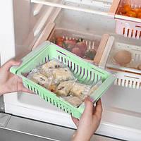 Органайзер на холодильник Strechable Hanging Storage Rack растягивающийся Зеленый