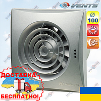 Бесшумный вентилятор Вентс 100 Квайт алюмат (VENTS 100 Quiet alumat)