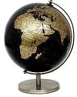 Глобус 25 см диаметр черно-золотой