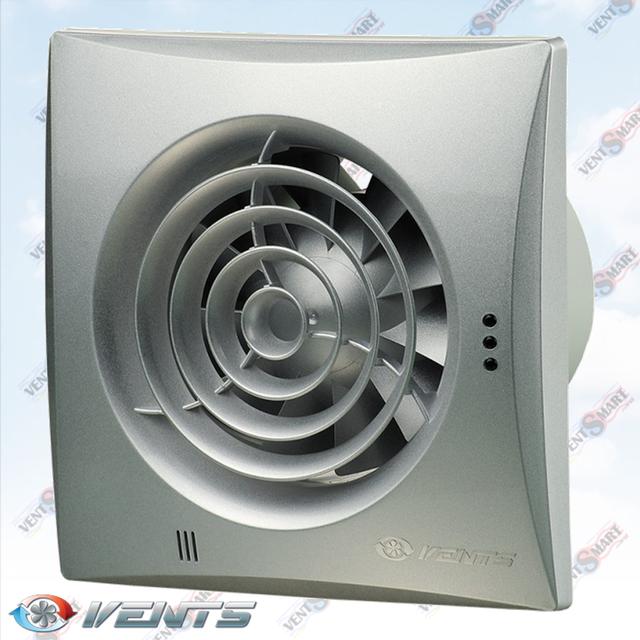VENTS QUIET 100 alumat ― внешний вид (фото, изображение) вентилятора для ванной белого цвета. Вентилятор обладает изысканным и современным дязайном, имеет малое энергопотребление, высокую продуктивность и низкий уровень шума. Модификации Вентс Квайт: со шнурком, с реле времени, с реле влажности, с датчиком движения до 4 м.