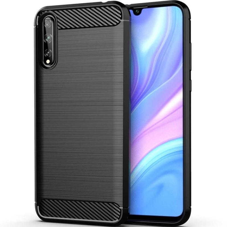 Противоударный чехол для Huawei P Smart S (AQM-LX1), Rugged Carbon, черный