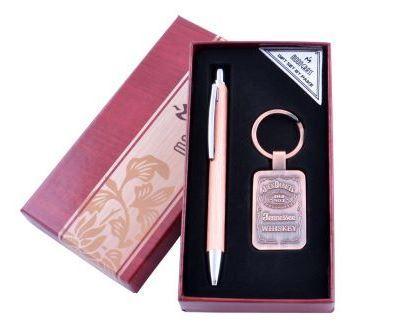 Подарочный набор с ручкой и брелком Jack Daniels