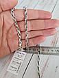 Серебряная цепь Московский Бит. 55 см. Вес 48.8 гр. 925 проба. Ручное плетение., фото 3