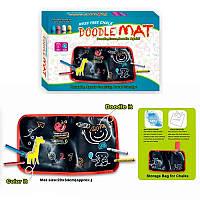 Коврик-aльбом для рисования мелками (мелом) малый Doodle Mat - для детского творчества дома, Наборы для