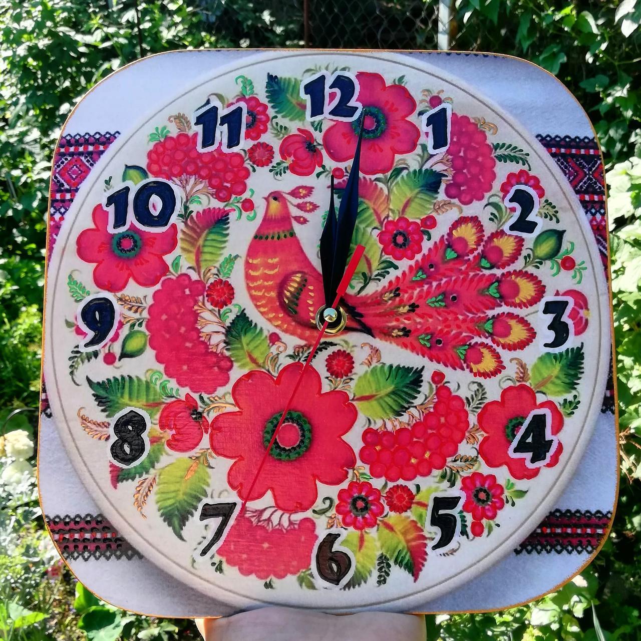 Настенный часы интерьерные в украинском стиле 315