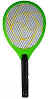 Мухобойка на аккумуляторах, цвет - Зеленый, электромухобойка,, Отпугиватели и ловушки для насекомых