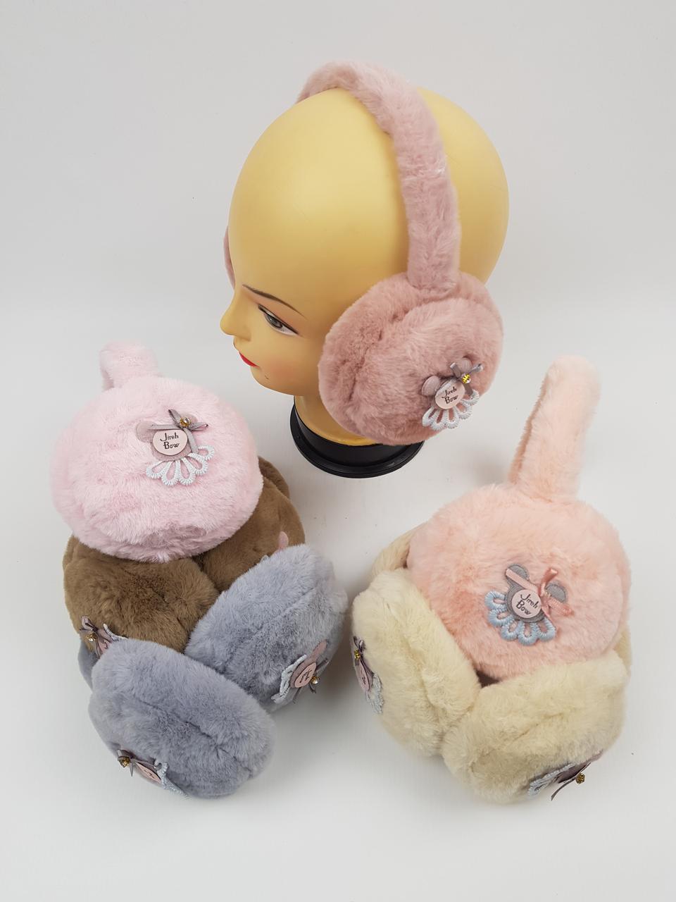 Детские меховые наушники для девочек оптом