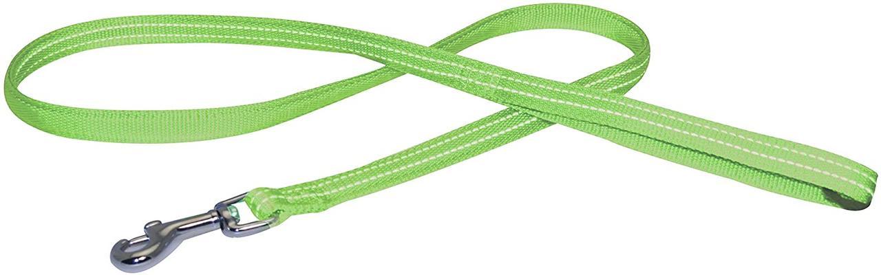 Поводок для собак Croci SOFT REFLECTIVE. Светоотражающий мягкий нейлон 120*1 см (зеленый)