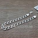 Чоловічий срібний браслет плоский бісмарк. ширина ланки 8 мм, фото 9