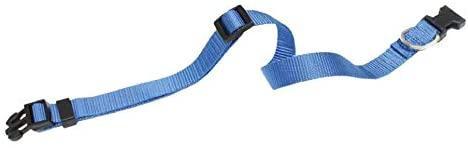 Ошейник нейлоновый для собак Croci. Регулируемый 46-75*2,5 см (синий)