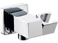 Подключение для душевого шланга с держателем квадратное REMER 337S