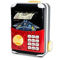 Копилка детская с электронным кодовым замком, для детей - Бетмен - детский сейф с доставкой, Копилки