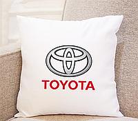 Подушка в машину. Подушка TOYOTA . Практичный подарок водителю.