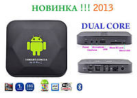 Android tv-box 2 ядра IPTV 1080P HD player mini x +пульт+настройки i-smart, фото 1