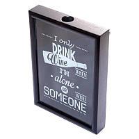 Рамка для винных пробок BST 250003 38х28х5,5 см. черная I only..., фото 1