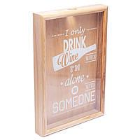 Копилка для винных пробок 250016 48х35х5,5 см. ясень I only drink wine, фото 1