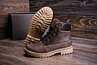 Ботинки мужские зимние |Зимнее кожаные ботинки мужские |Зима Ботинки | Timderlend Crazy Shoes Chocolate, фото 8