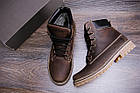 Ботинки мужские зимние |Зимнее кожаные ботинки мужские |Зима Ботинки | Timderlend Crazy Shoes Chocolate, фото 10