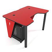 Геймерский стол ZEUS IVAR-1200 Red  ,цвет  красный +черный