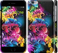 """Чехол на iPhone 6s Абстрактные цветы """"511c-90"""""""
