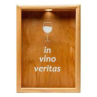 Скарбничка для винних пробок BST PRK-41 38х28 див. In vino veritas ясен, фото 1