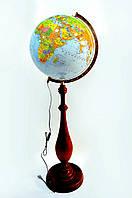 Глобус с подсветкой 420 мм политико-физический на деревянной ножке (рус.) BST 540159, фото 1