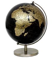 Глобус 20 см диаметр черно-золотой