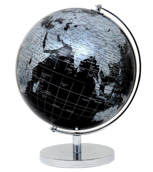Глобус 20 см диаметр Темно - Серый