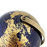 Глобус 14,2 см см Темно - Синий, фото 3