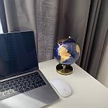 Глобус 14,2 см см Темно - Синий, фото 4