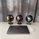 Глобус 14,2 см см Темно - Синий, фото 6