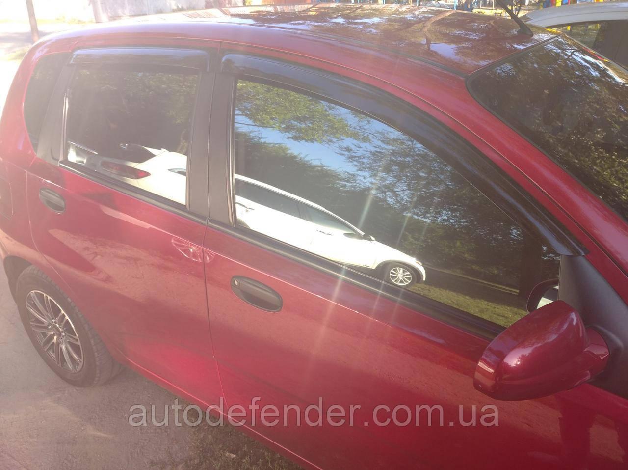 Дефлекторы окон (ветровики) Chevrolet Aveo 5d hatchback T200 + T255 + ЗАЗ Vida, ANV - Cobra Tuning, C30103