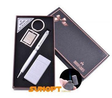 Подарочный набор брелок, ручка, зажигалка Jack Daniel's (Острое пламя) №AL-110B