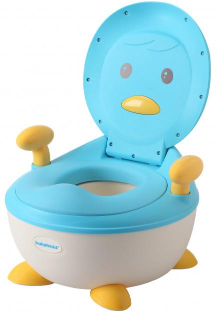 Дитячий горщик Babyhood Пінгвін блакитний (BH-113B)