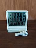 Термометр с измерением влажности для внутренней и наружной температуры (CX-301A), фото 5
