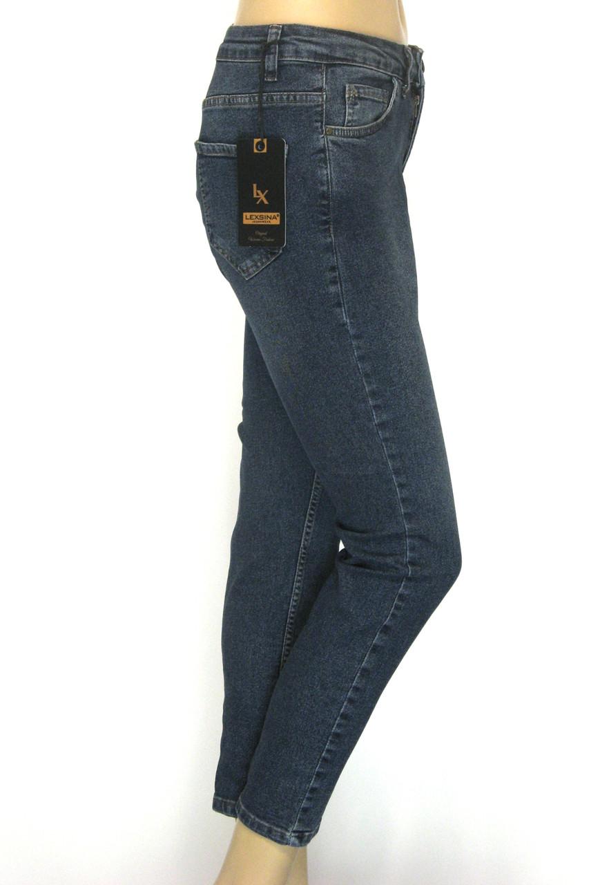 Жіночі джинси стрейч напів батал Lexsina